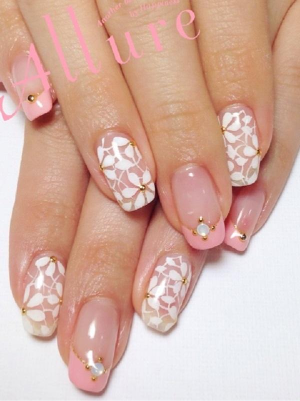 pink  nail art 38