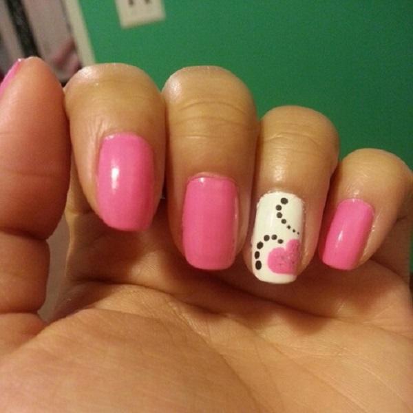 pink  nail art 4