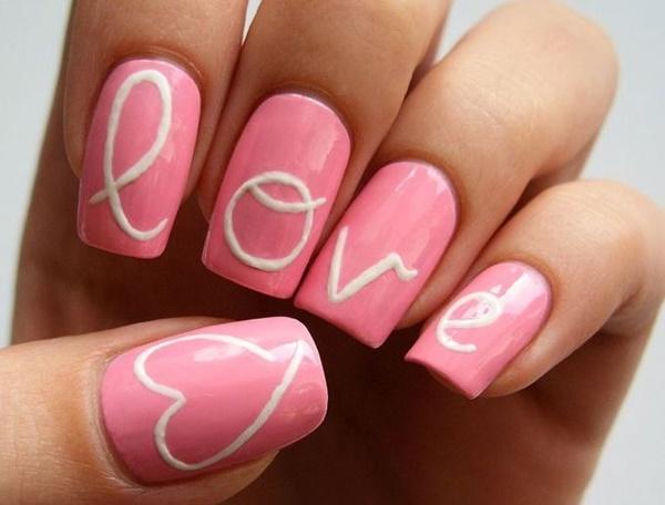 pink  nail art 43