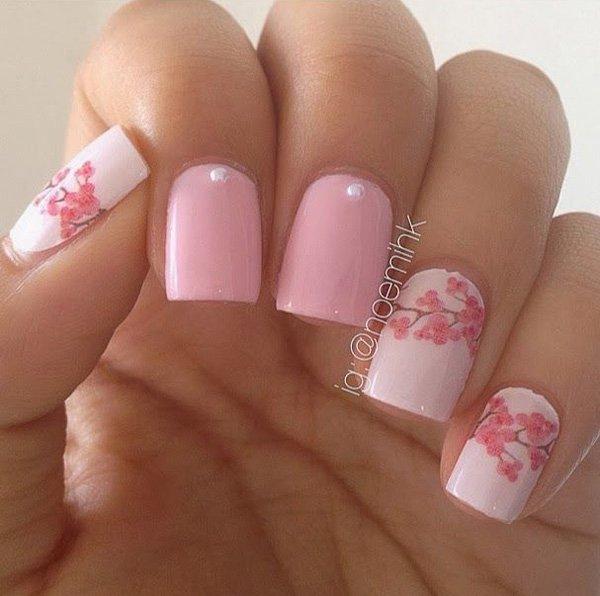 pink  nail art 44