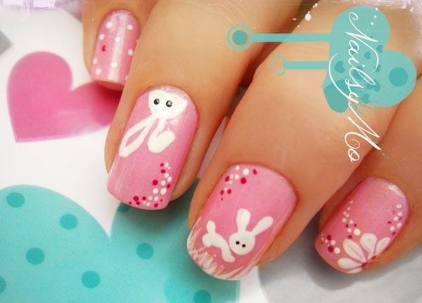 pink  nail art 45