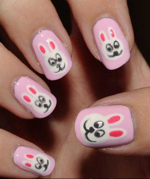 pink  nail art 46