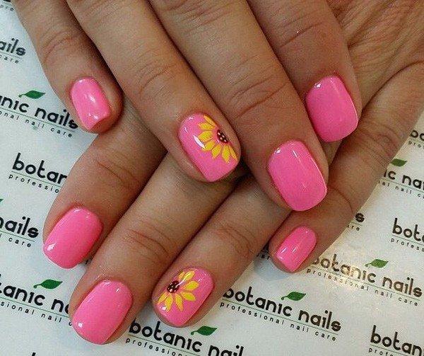 pink  nail art 48