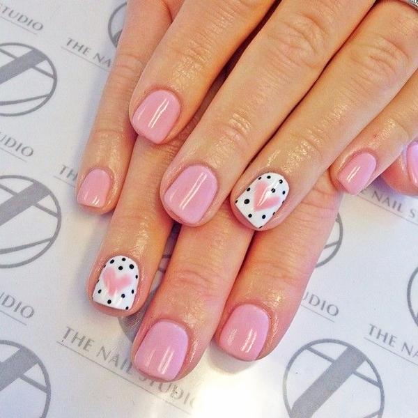 pink  nail art 49