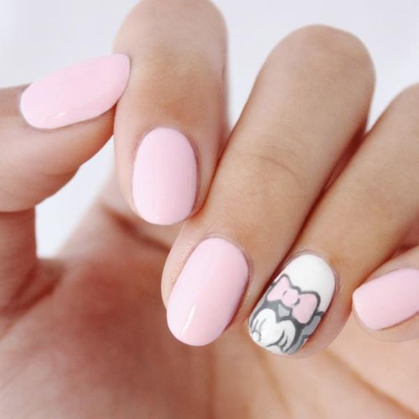 pink  nail art 5