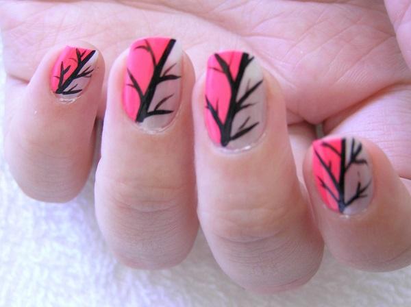 pink  nail art 50