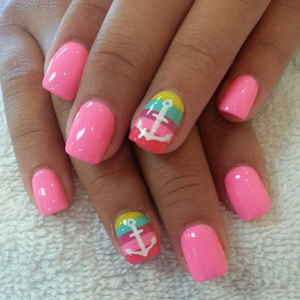 65 lovely Pink Nail Art Ideas  nenuno creative