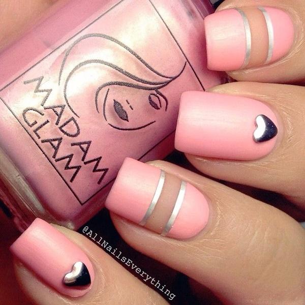 pink  nail art 7