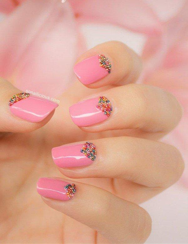 pink  nail art 9