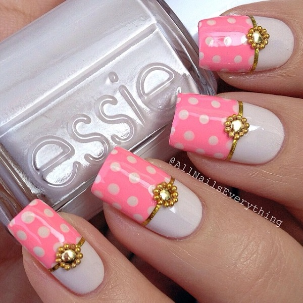 Pink ... - 30 Cute Pink Nail Art Design Tutorials With Pictures
