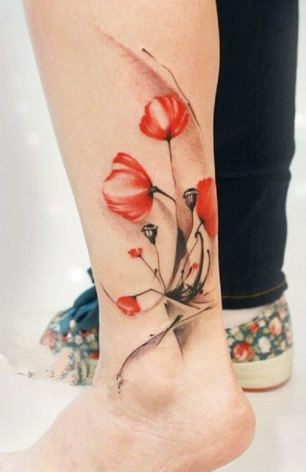 poppy flower tattoo 12