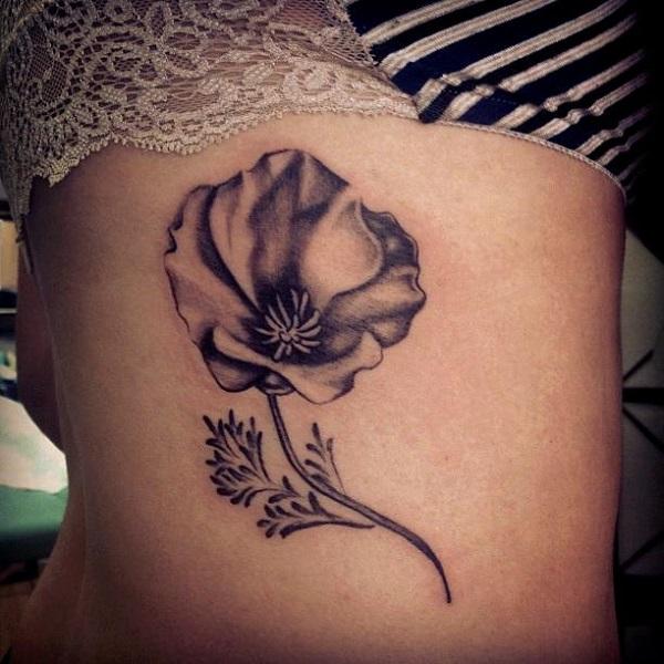 poppy flower tattoo 13
