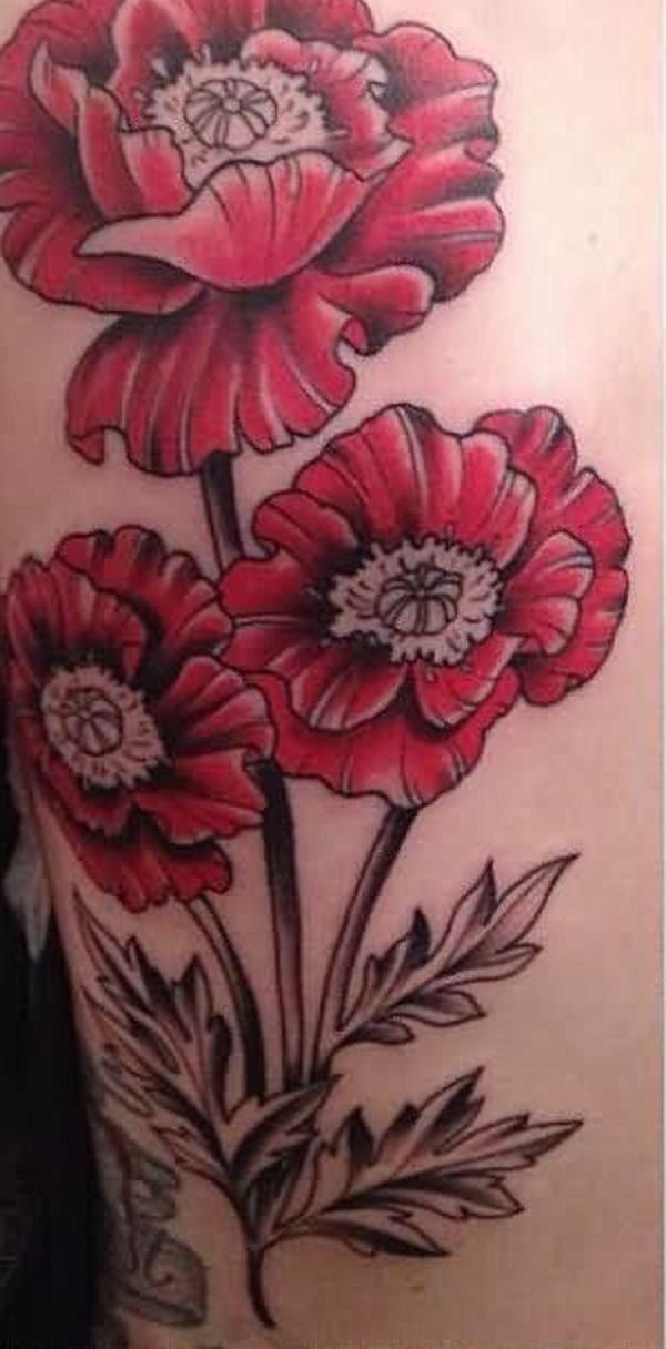 poppy flower tattoo 15