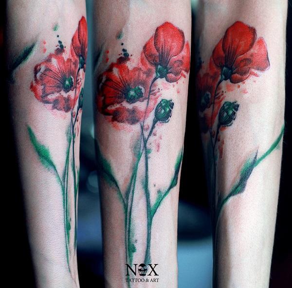 poppy flower tattoo 17