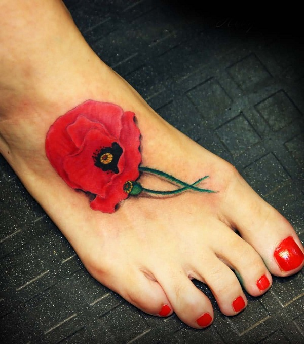 poppy flower tattoo 18