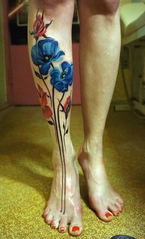 poppy flower tattoo 24