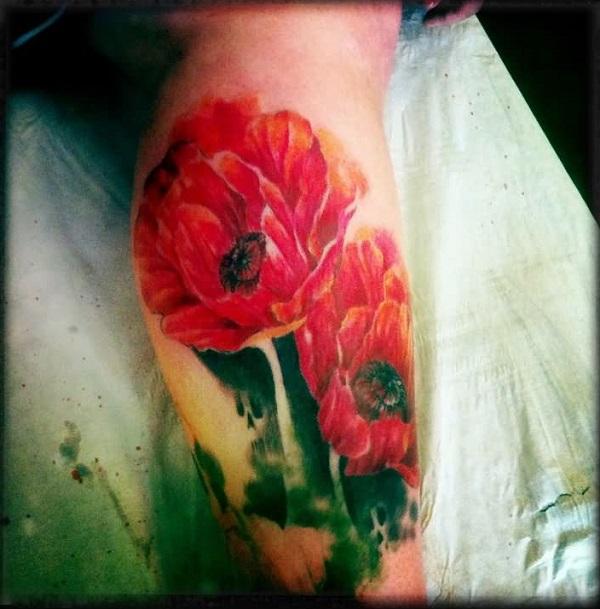 poppy flower tattoo 26