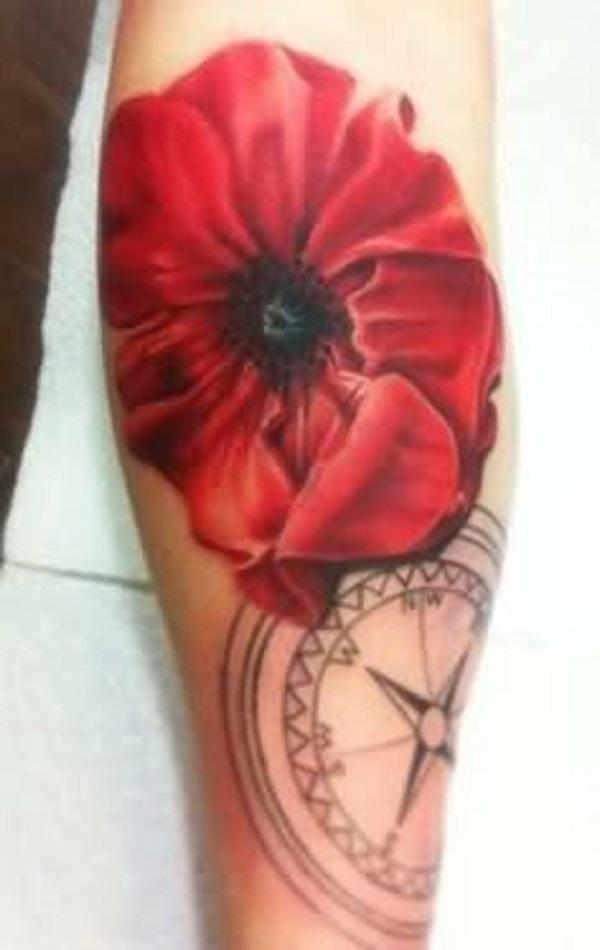poppy flower tattoo 28