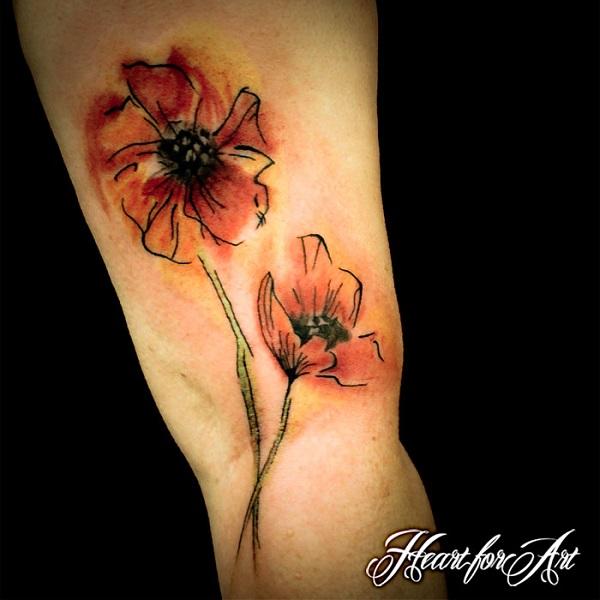 poppy flower tattoo 32