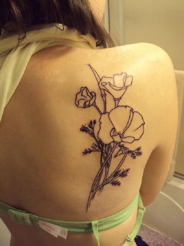 poppy flower tattoo 34