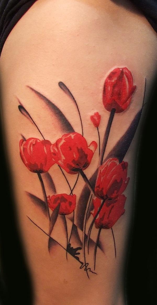 poppy flower tattoo 35