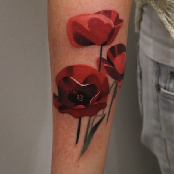 poppy flower tattoo 37