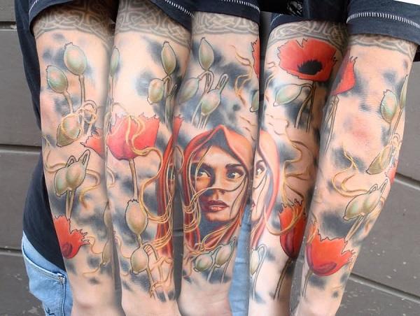 poppy flower tattoo 38