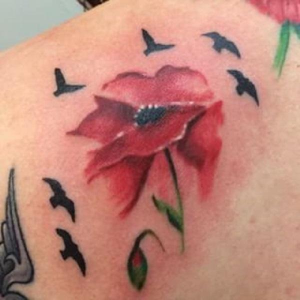 poppy flower tattoo 43