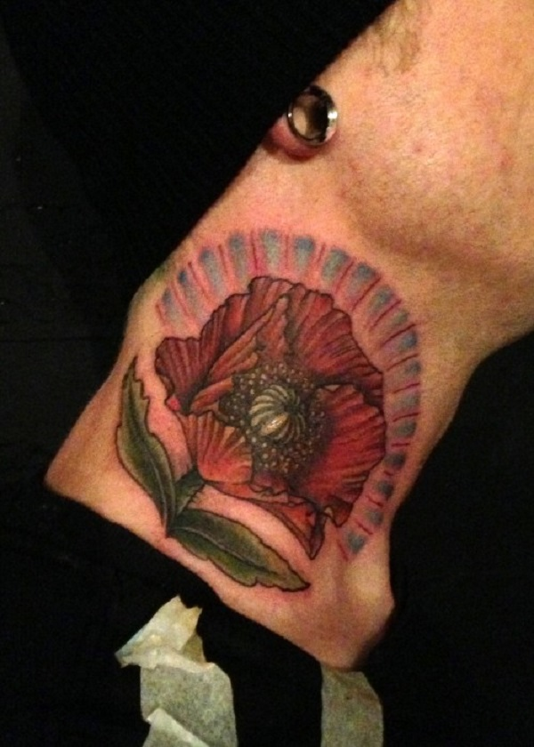 poppy flower tattoo 45