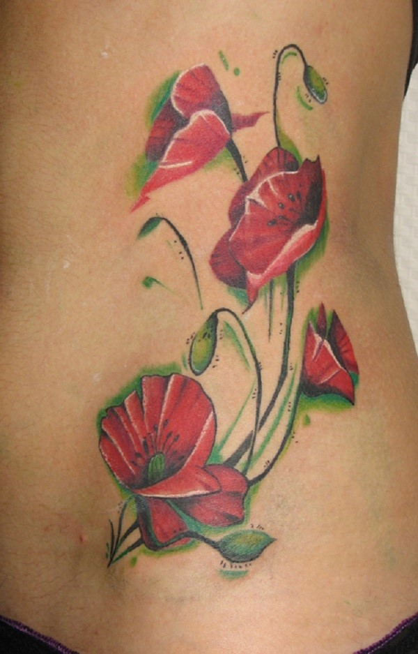 poppy flower tattoo 46
