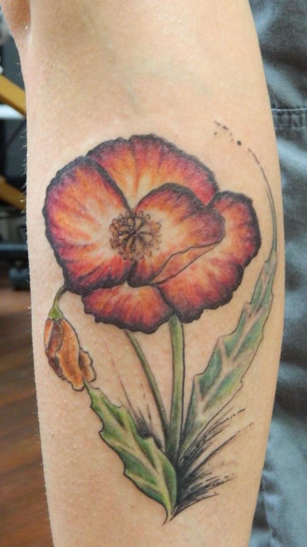poppy flower tattoo 47