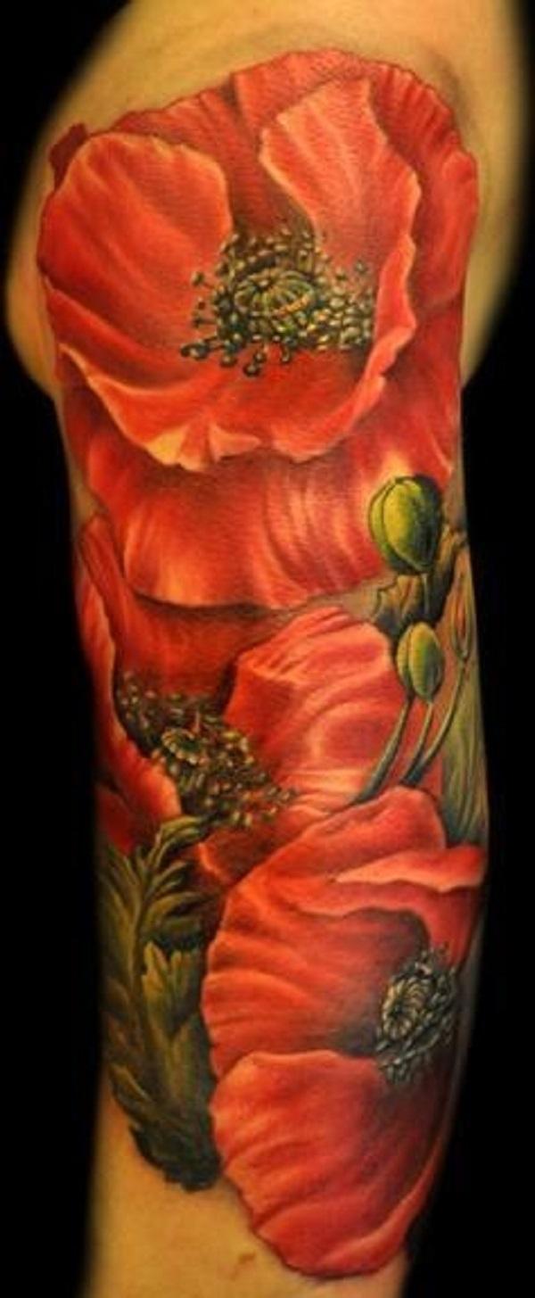 poppy flower tattoo 51