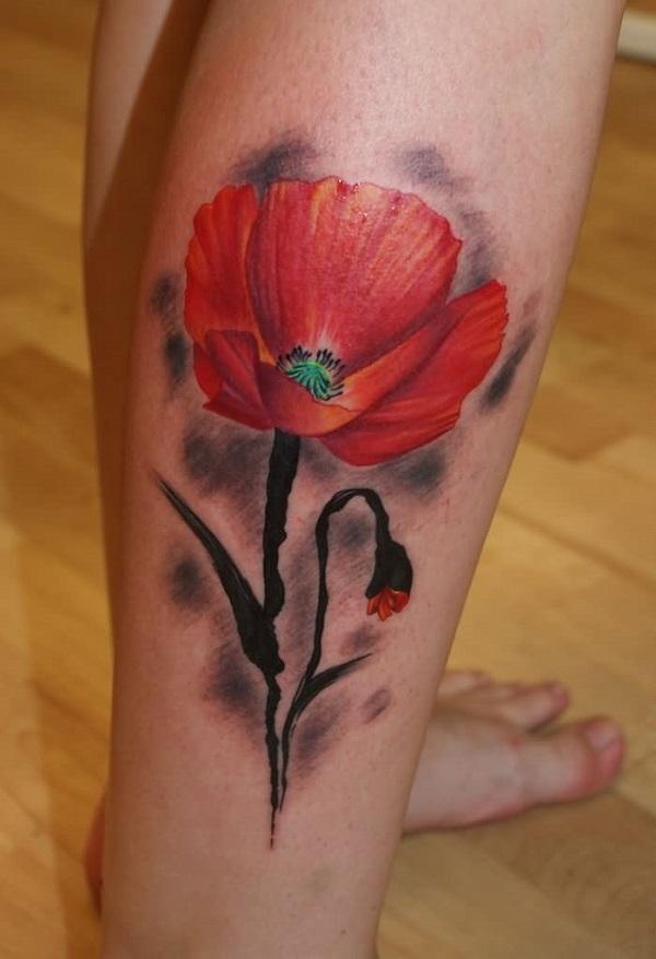 poppy flower tattoo 52