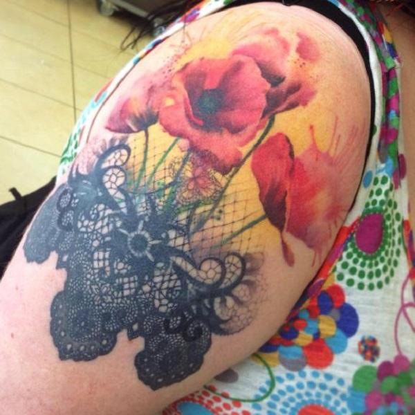 poppy flower tattoo 54