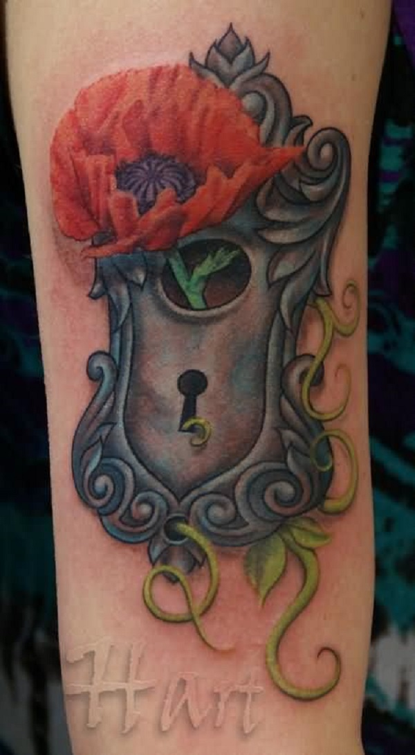 poppy flower tattoo 55