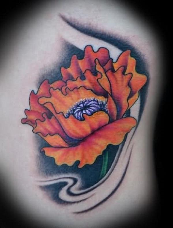 poppy flower tattoo 57