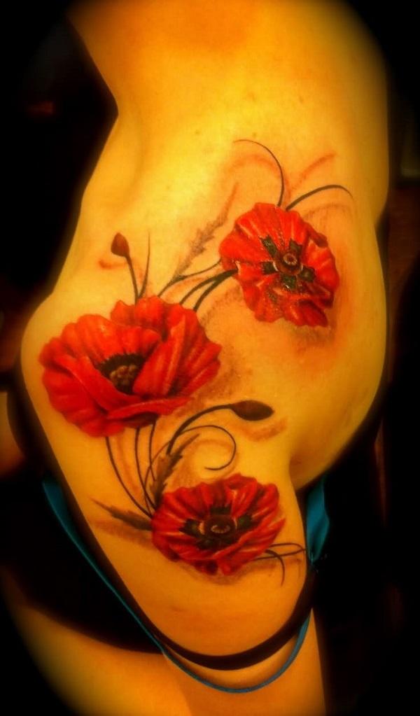 poppy flower tattoo 59