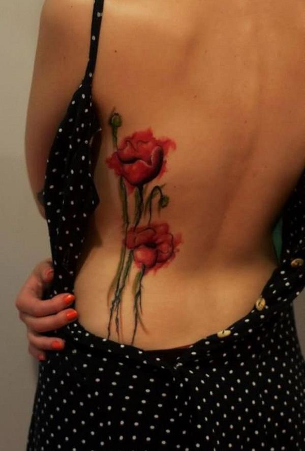 poppy flower tattoo 62