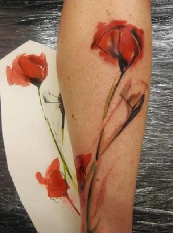 poppy flower tattoo 69