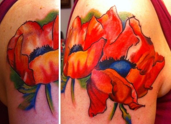 poppy flower tattoo 70