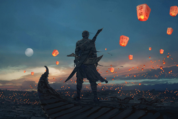 sky_lanterns_by_wlop