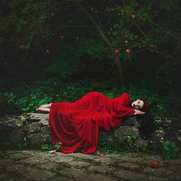sleeping beauty in red by anka zhuravleva
