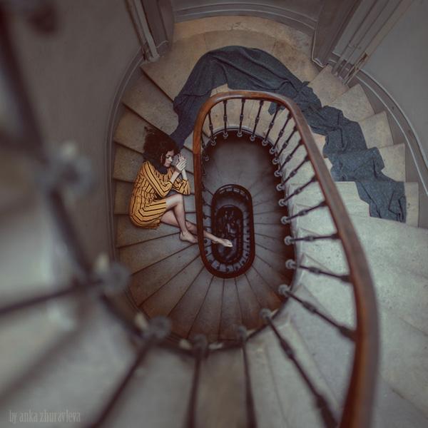 stair romance by anka zhuravleva