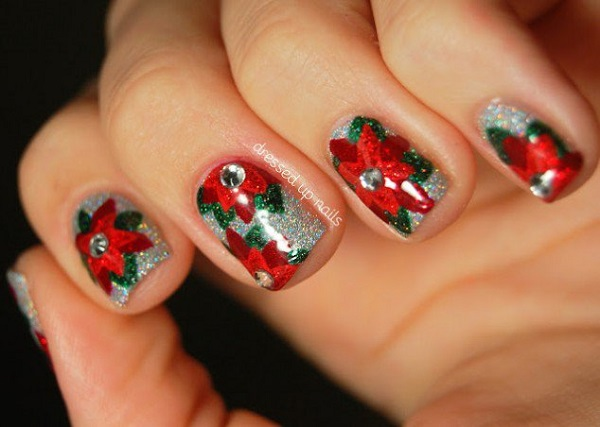 Christmas nail art 34