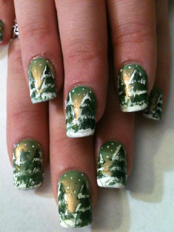 65 Christmas Nail Art Ideas - nenuno creative