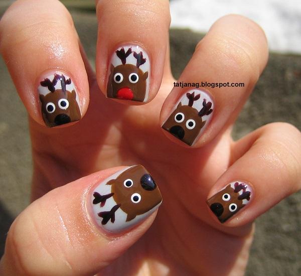 Christmas nail art 5
