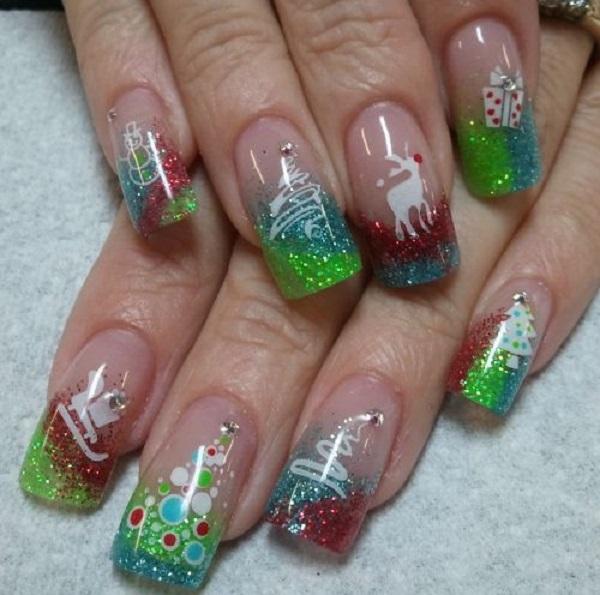 Christmas nail art 53