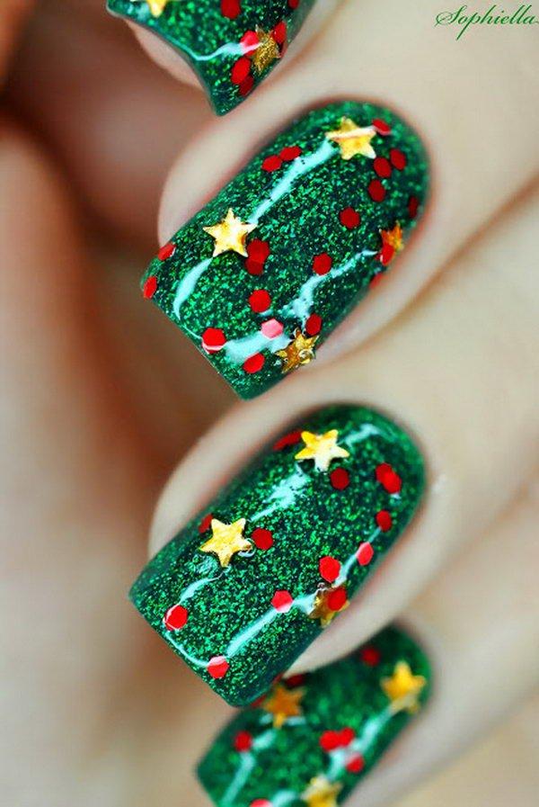 Christmas nail art 61