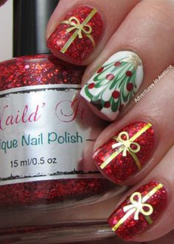 65 Christmas Nail Art Ideas - nenuno creative