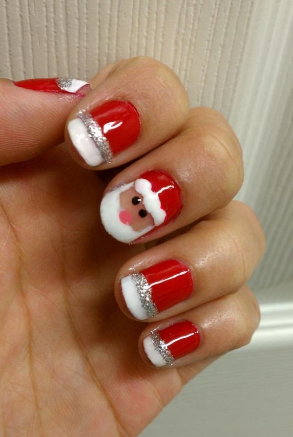 Christmas nail art 7